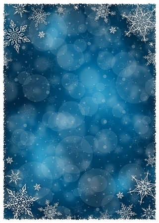 blue christmas background: Christmas Winter Frame - Illustration. Vector illustration of Christmas Winter Background.