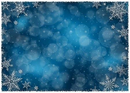 blue card: Christmas Winter Frame - Illustration. Vector illustration of Christmas Winter Background.