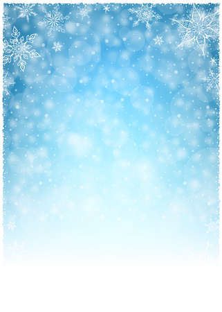 nouvel an: Cadre d'hiver de No�l - Illustration. Vector illustration d'hiver de No�l fond. Illustration