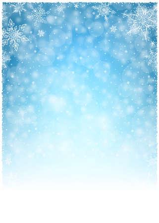 verticales: Marco de la Navidad del invierno - Ilustración. Ilustración vectorial de Navidad de invierno de fondo.