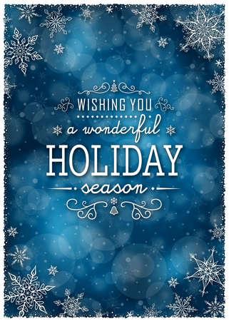 christmas blue: Christmas Winter Frame - Illustration. Vector illustration of Christmas Winter Background.