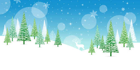 christmas background: Christmas Winter Frame - Illustration. Vector illustration of Christmas Winter Background.
