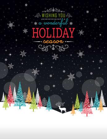 Cadre d'hiver de Noël - Illustration. Vector illustration d'hiver de Noël fond. Banque d'images - 48097695