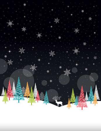 Christmas Winter Frame - Illustration. Vector illustration of Christmas Winter Background.
