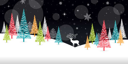 Christmas Winter Frame - Illustration. Vector illustration of Christmas Winter Background. Imagens - 48141660