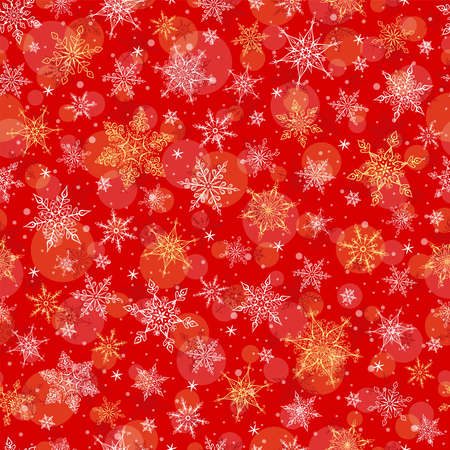 Seamless Winter Background - Snowflakes Pattern Illustration. Vector Seamless Pattern for Christmas Winter Theme. 일러스트