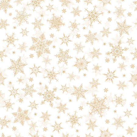 vector ornament: Seamless Winter Background - Snowflakes Pattern Illustration. Vector Seamless Pattern for Christmas Winter Theme. Illustration
