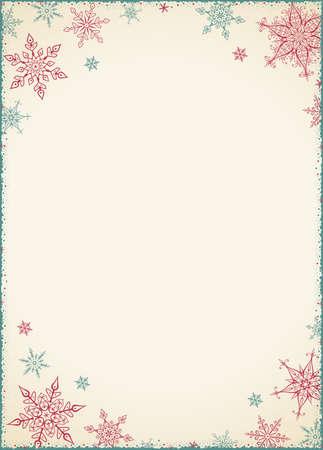 Vintage Christmas Frame - Illustration. Vector illustration of Old-Styled Winter Background. Illustration