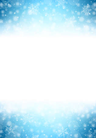 blue christmas background: Christmas Vertical Frame - Illustration. Vector illustration of Winter Background.