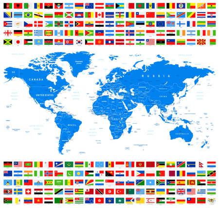 すべてのフラグと世界地図。アズール。