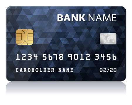 credit card Illusztráció