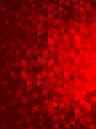 shiny background: Red Abstract Geometric Triangle Vertical Background - Vector Illustration