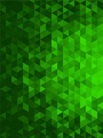 Green Abstract Geometric Triangle Vertical Background - Vector Illustration Vettoriali