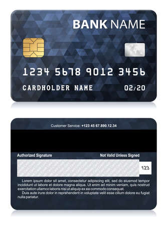 cash back: Credit Card with Abstract Polygon Pattern Illustration