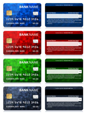 Collection of Credit Card Designs Illustration