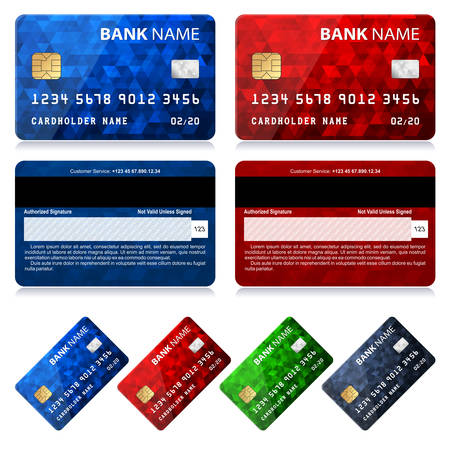 backside: Collection of Credit Card Designs Illustration