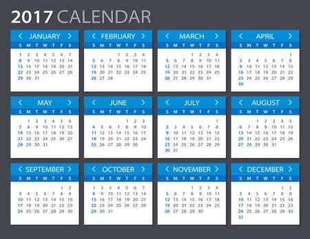 2017日历 - 插图