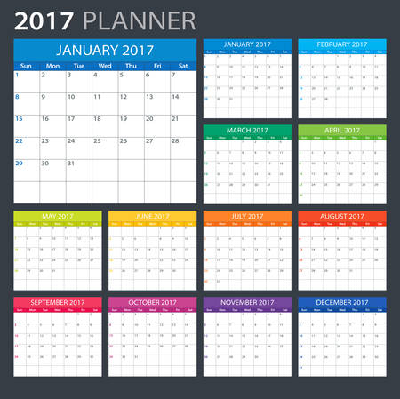 planner: 2017 Planner - illustration