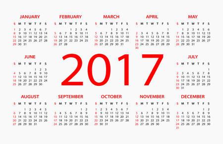 electronic organizer: 2017 Calendar - illustration
