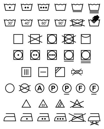 Laundry icons - Illustration Illustration