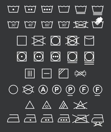 Wasserij pictogrammen - Illustratie Vector Illustratie