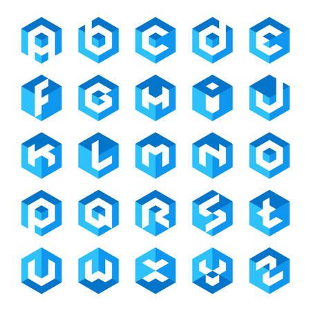 알파벳 큐브 편지 로고