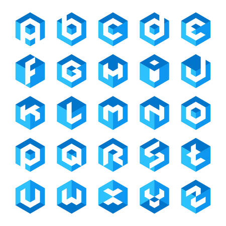 logo: Bảng chữ cái Logos thư cube