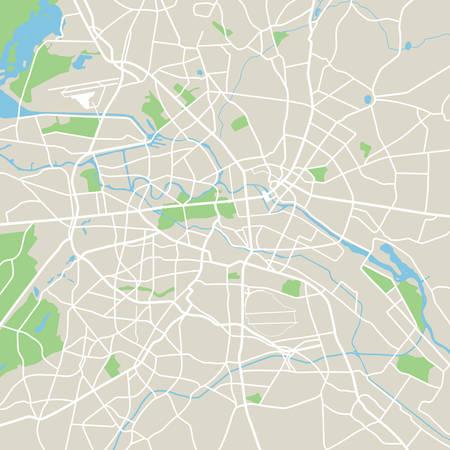 Abstract city map - Illustration Vettoriali