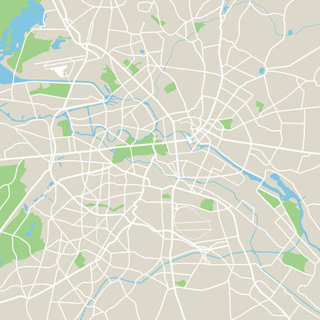 Abstract city map - Illustration Illustration