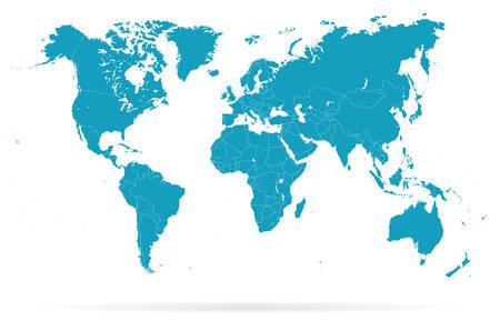 World Map and navigation icons - illustration Illustration