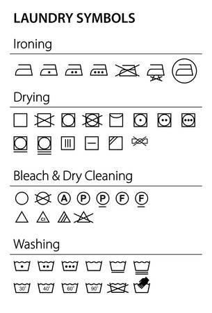 tumble drying: Laundry icons - Illustration Illustration