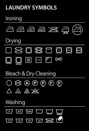 rinsing: Laundry icons - Illustration Illustration