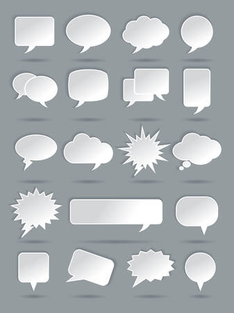 though: Paper Speech Bubble Icons