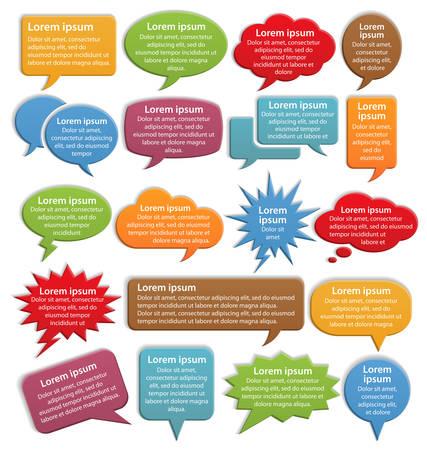 Color Speech Bubble Icons