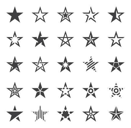 forme: Icônes de forme étoile - Illustration