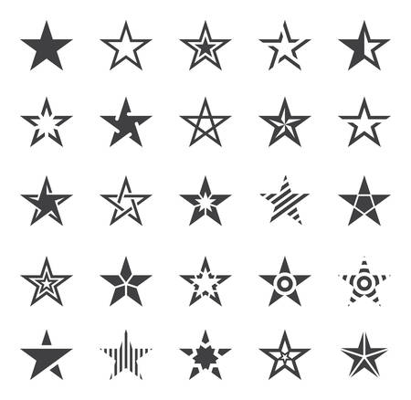 Star Shape Icons - Illustration