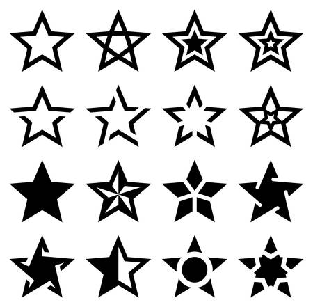 Star Shape Icons - Illustration Illustration