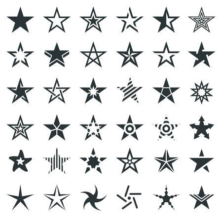 pentacle: Star Shape Icons - Illustration Illustration