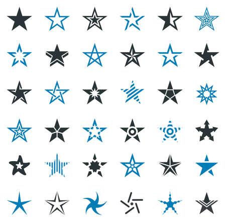 star award: Star Shape Icons - Illustration Illustration