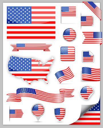 Verenigde Staten vlag Set