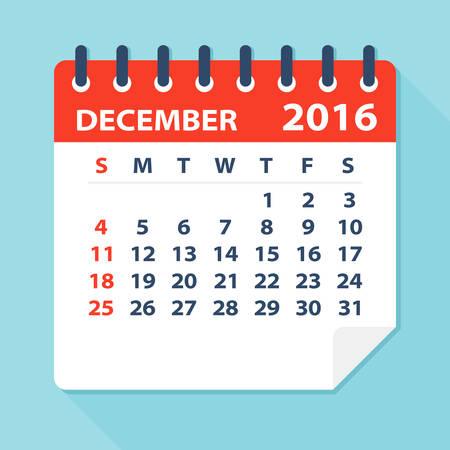 mon 12: December 2016 Calendar