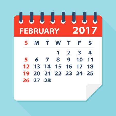 De febrero de 2017 Calendario