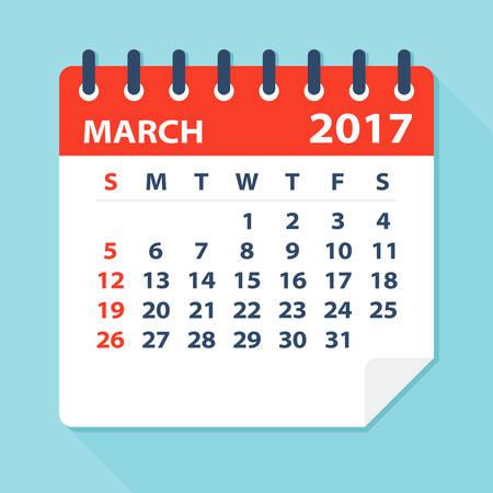 calendar: March 2017 Calendar