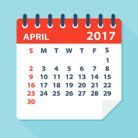 calendar: April 2017 Calendar