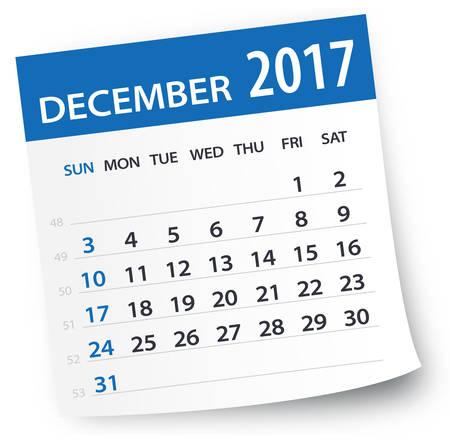 2017 年 12 月カレンダー