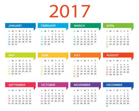 Kalender 2017 Standard-Bild - 64883113