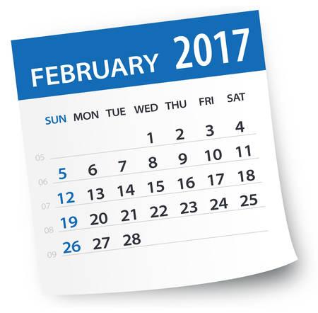 2 months: February 2017 Calendar