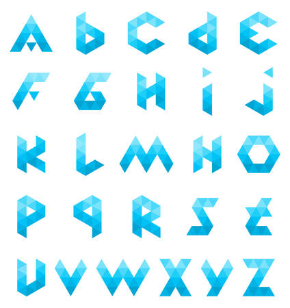 Alphabet Triangle Polygon Letter Logos