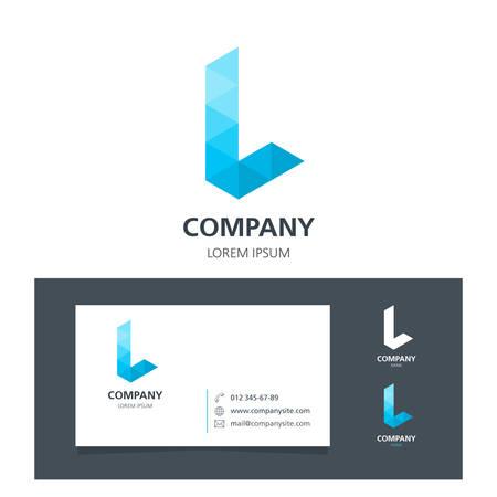 Letter L - Logo Design Element with Business Card - illustration