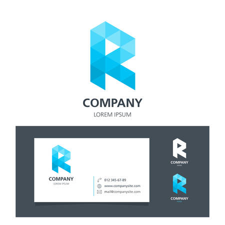 Letter R - Logo Design Element with Business Card - illustration Illustration